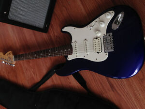 Electric guitar, case and amp for sale 350.00 or best offer