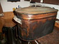 Large  Copper Pot used for boiling water on wood stoves  etc