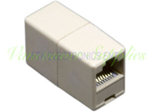 10Pc RJ45 Connector Coupler Extension Broadband Ethernet Network