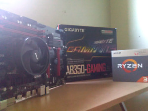 Ryzen 3 2200g and Gigabyte ATX high end motherboard