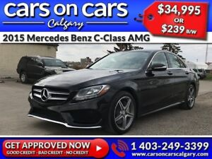 2015 Mercedes Benz C-Class C300 AMG PKG 4MATIC w/Leather, PanoRo