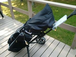 """Complete set of """"Tour Star"""" Tech Plus clubs with portable cart"""