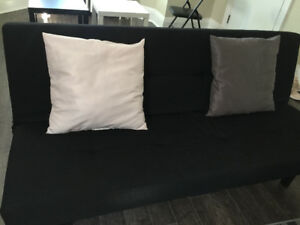 IKEA Sofa Bed In Black In A Good Condition