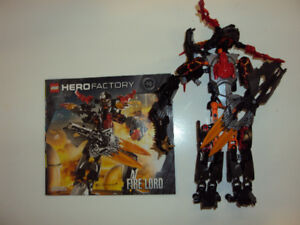 Hero Factory: Fire Lord (2235) includes booklet.