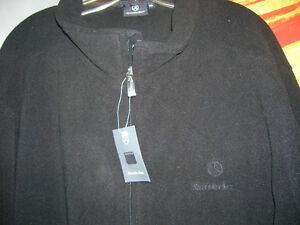 Mercedes Benz Black Fleece Jacket  New With Tags Mens
