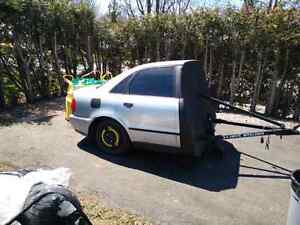 Half car trailer Audi A4 B5 with coilovers Kitchener / Waterloo Kitchener Area image 2