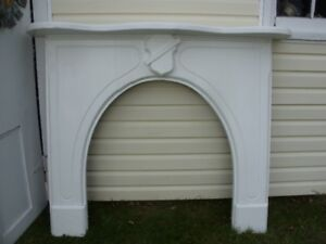 Antique Solid Wooden Mantel
