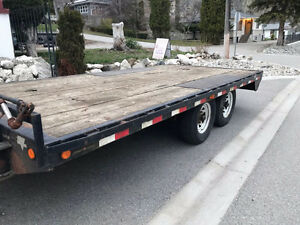 Flat deck trailer 20ft
