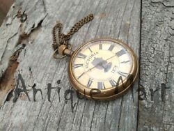 Antique Maritime brass Table/Desk clock Nautical Victoria London 1875 Ball Clock