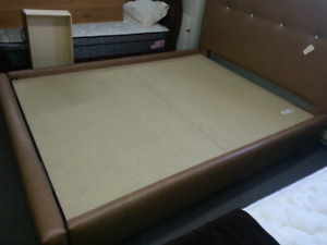 Queen size bed frame with drawer