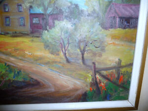 "Listed Artist, Inez Buchanan ""Farm At Actinolite, Ontario"" 1951 Stratford Kitchener Area image 4"