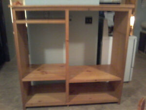 Handmade solid pine entertainment centre
