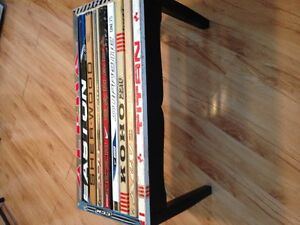 coffee table hockey sticks