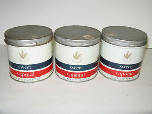 1960'S TOBACCO TINS ~ SWEET CAPORAL ~ TOTAL 3