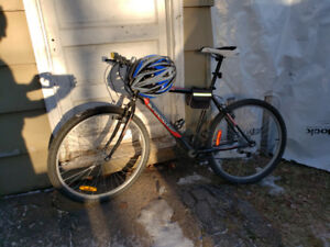 Bike with free accessories _perfect condition_NEGOGIABLE