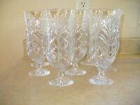 8 crystal glasses plus collection of 13 wine glasses