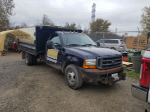 Ford F-350 Super Duty (2000) with dump and plow