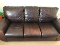 Brown leather sofa - free