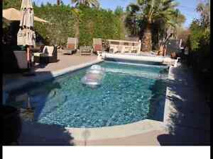 Palm Desert executive salt water pool and spa close to El Paseo
