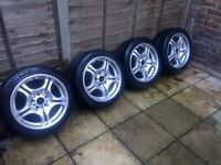 "Genuine 17"" BMW Staggered Alloys"