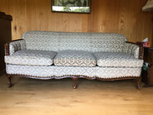 Brocade Couch and Chair Set