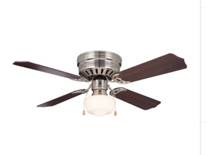 NOMA Schoolhouse Ceiling Fan, 4-blade, 42-in
