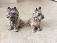 Pair of China westy dogs