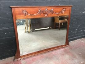 Fabulous Victorian over mantle large mirror