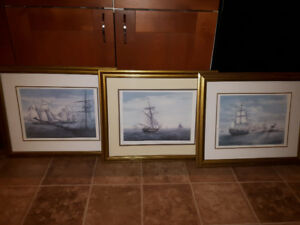 Nautical Wall Art / Pictures - set of three