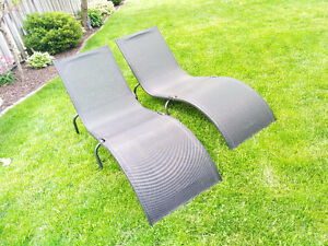 Two Patio Lounge Chairs