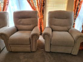 3 piece electric recliner suite set