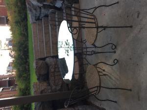 Outdoor wrought iron patio set