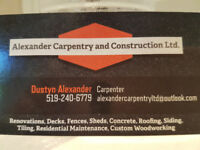 Carpentry, Construction and Handyman Services