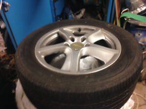 FOUR  GOODYEAR SUMMER TIRES ON RIMS 255/55/18