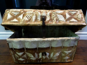 19thC missionary PERUVIAN travel CHEST TRUNK early PETACA