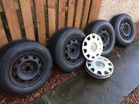 VW golf steel wheels
