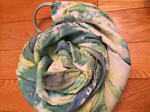Hand dyed, Silk ring sling