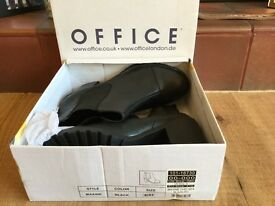 Brand new black boots from office size 8