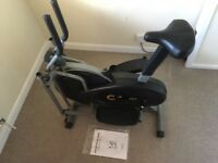 2 in 1 Elliptical Cross Trainer and Exercise Bike with Seat.