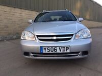 CHEVROLET LACETTI SX Estate, 5 Door Silver, 2 previous owners