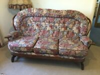 Cottage style sofa with chairs