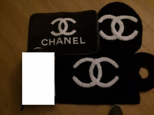chanel brand toilet carpet cover 4 pcs new