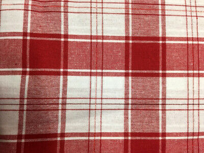Red Plaid Tablecloth (Valentine's Day Tablecloth Red & White Plaid Red Shimmer Stripes 60