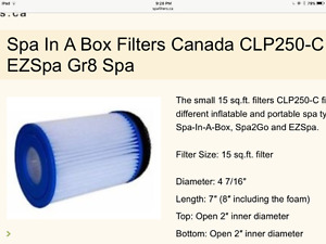 Spa in a box filters (x2)