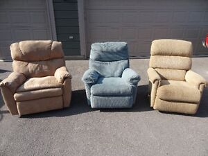 3 Fully Reclining Rocking Chairs Peterborough Peterborough Area image 1