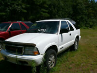 2002 GMC Jimmy 4X4 SUV, AND 1996 first year model Blazer. US Tru