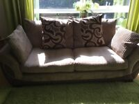2 x 3Seater sofas in brown