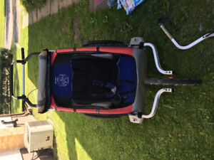 2008 CX2 Chariot with infant sling and bike attachment