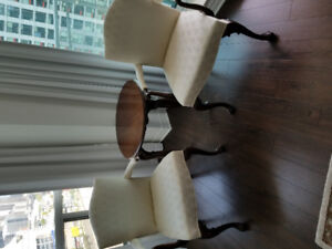 2 Upholstered Living room formal Chairs