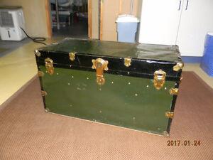 Valise antique Antique trunk classeur / filing cabinet
